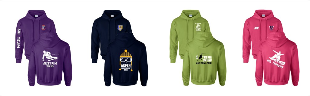 Personalised Hoodies for your Ski Trip