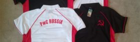PwC Russia Embroidered Polo Shirts