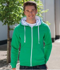 Hoodies Sweatshirts-Contrast Zip Hoodies