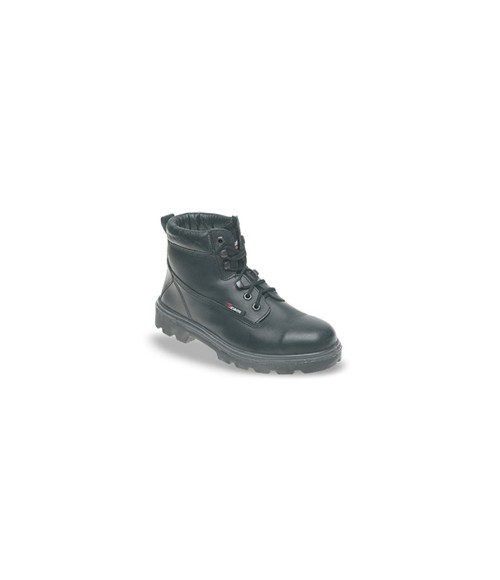 Toesavers 1100 Black Leather Safety Boots - Dual Density Sole & Midsole