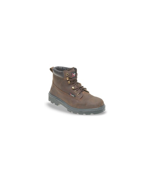 Toesavers 1101 Brown Nubuck Leather Safety Boots - Dual Density Sole & Midsole