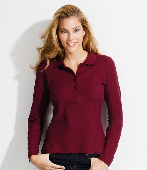 SOL'S Ladies Podium Long Sleeve Cotton Pique Polo Shirt