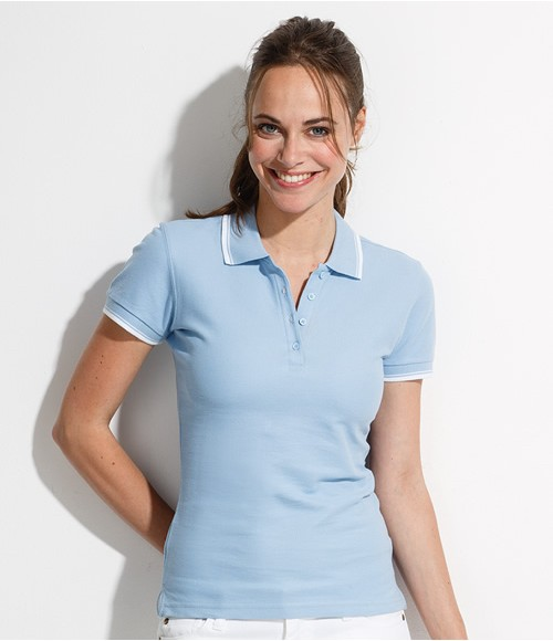SOL'S Ladies Practice Tipped Pique Polo Shirt