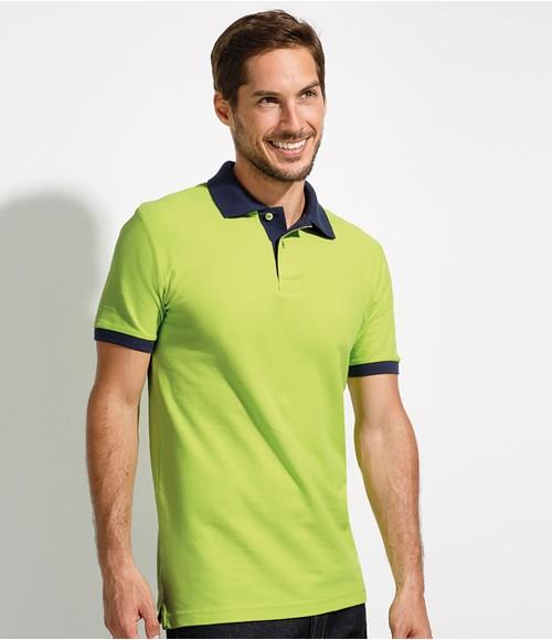 SOL'S Prince Contrast Cotton Pique Polo Shirt