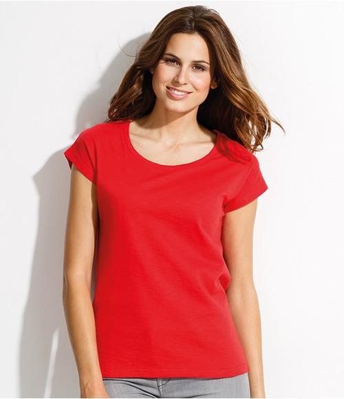 SOL'S Ladies Scoop Slub T-Shirt