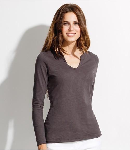 SOL'S Ladies Marais Long Sleeve Slub T-Shirt