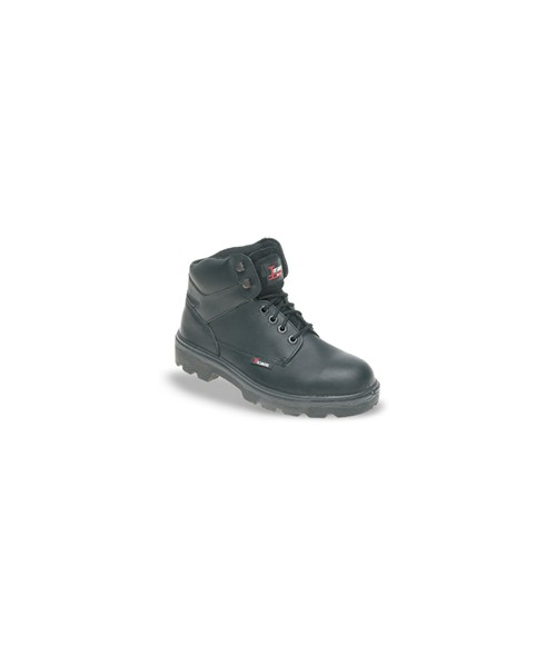 Toesavers 1200 Black Leather Safety Boots - Dual Density Sole & Midsole