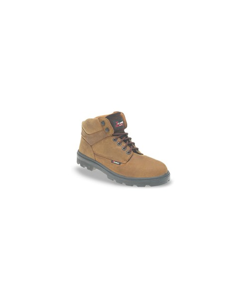 Toesavers 1201 Brown Nubuck Leather Safety Boots - Dual Density Sole & Midsole