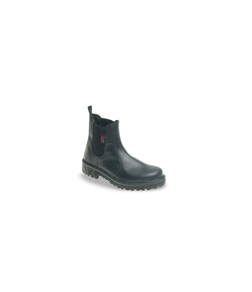 Himalayan 151B Black Leather Dealer Safety Boots - Dual Density Sole & Midsole