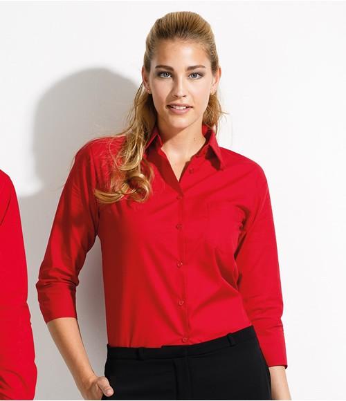 SOL'S Ladies Eternity 3/4 Sleeve Poplin Shirt