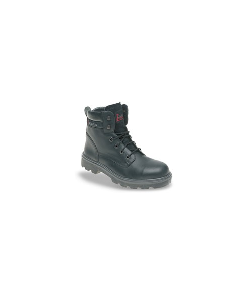 Toesavers 1900 Black Leather Safety Boots - Dual Density Sole & Midsole