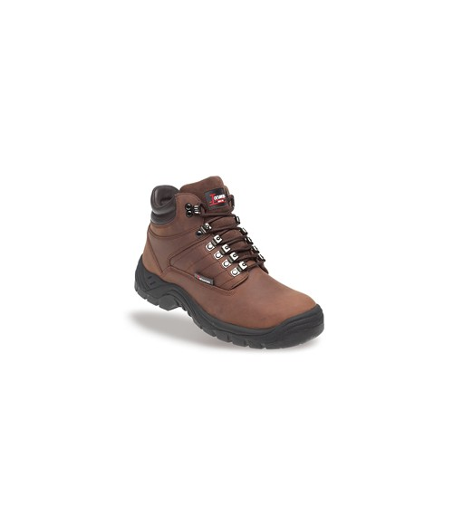Toesavers 1906 Brown Leather Safety Boots - Dual Density Sole & Midsole