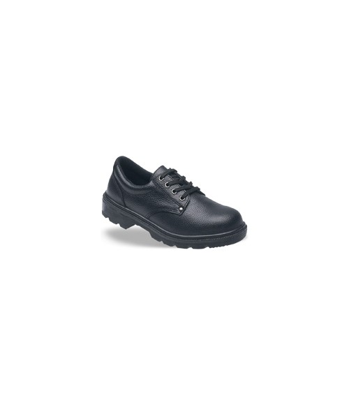 Toesavers 2414 Black Leather Safety Shoes