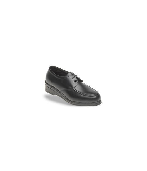 Toesavers 2505 Black Leather Tie-On Safety Shoes