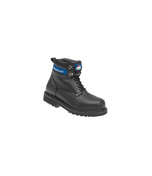 Himalayan 3100 Black Full Grain Leather Goodyear Welted Safety Boots - Steel Midsole