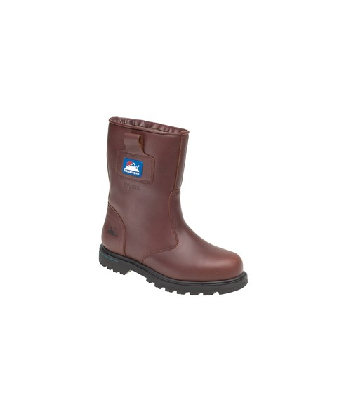 Himalayan 3550 Brown Full Grain Leather Goodyear Welted Safety Rigger Boots - Steel Midsole