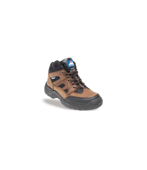 Himalayan 4001 Brown and Black Leather/Nylon Safety Cross Trainer Boots - TPU Sole & Midsole
