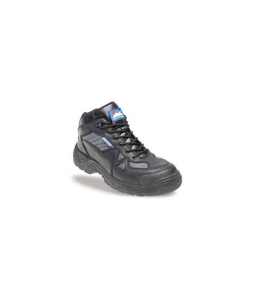 Himalayan 4010 Black and Silver Leather/Nylon Safety Cross Trainers - TPU Sole & Midsole