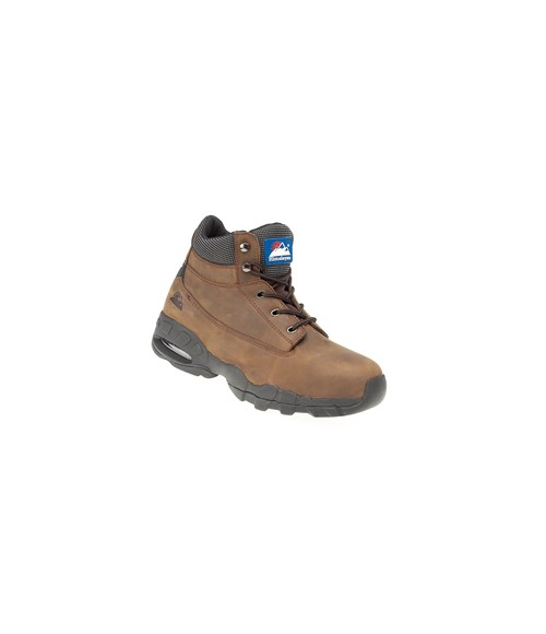 Himalayan 4060 Brown Oily Nubuck Safety Boots - EVA/Rubber Sole & Steel Midsole