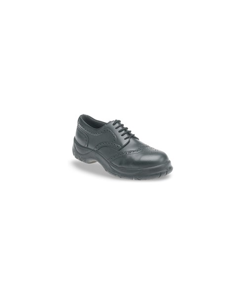 Himalayan 410 Black Leather Brogue Safety Shoes - Extra Wide Fit