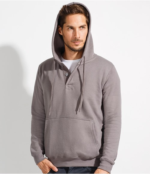 SOL'S Saturn Placket Hooded Sweatshirt