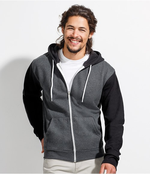 SOL'S Unisex Silver Hooded Jacket