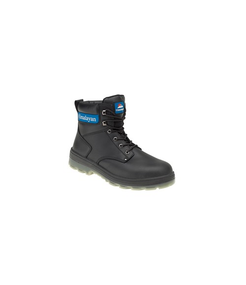 Himalayan 5015 Black Leather Safety Boots - TPU Sole & Midsole