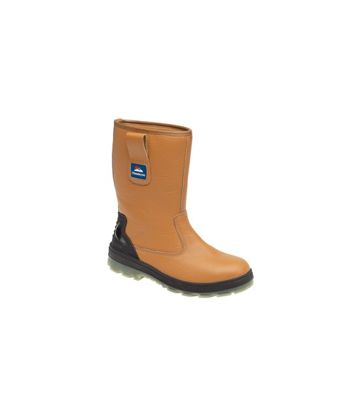Himalayan 5020 Tan Full Grain Leather Safety Rigger Boots - TPU/PU Sole, Kick Plate and Midsole