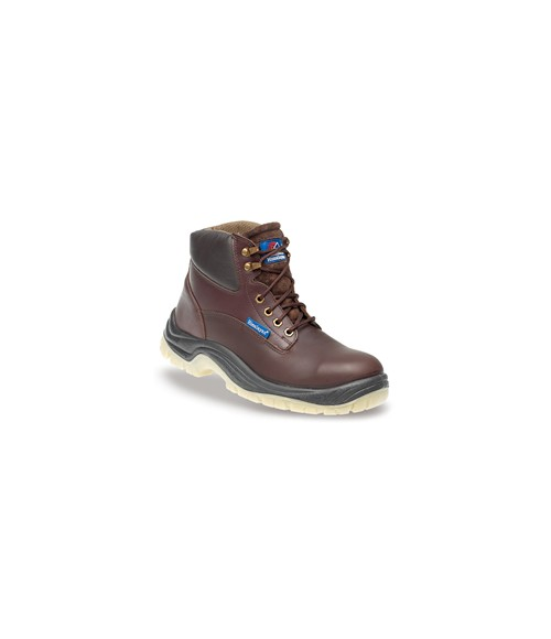 Himalayan 5053 Brown Full Grain Leather Safety Boots - PU/PU Clear Sole & Steel Midsole