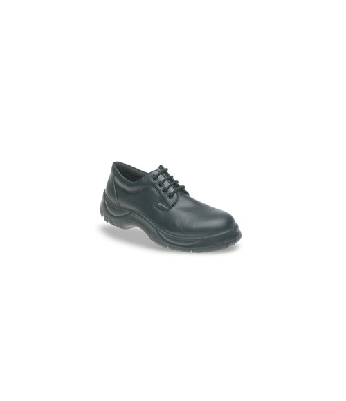 Himalayan 511 Black Leather 4 Eyelet Safety Shoes - Extra Wide Fit