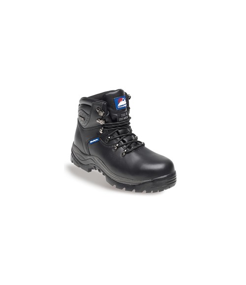 Himalayan 5200 Black Leather Fully Waterproof Safety Boots - Rubber Sole & Steel Midsole