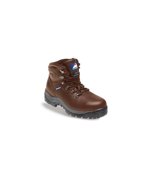 Himalayan 5201 Brown Leather Fully Waterproof Safety Boots - Rubber Sole & Steel Midsole