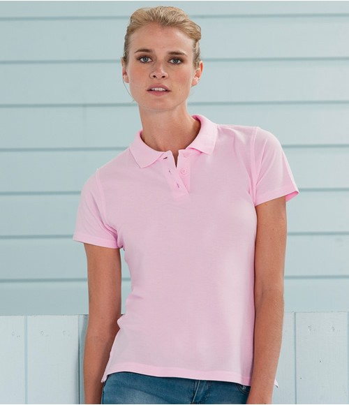 Russell Ladies Pima Cotton Pique Polo Shirt