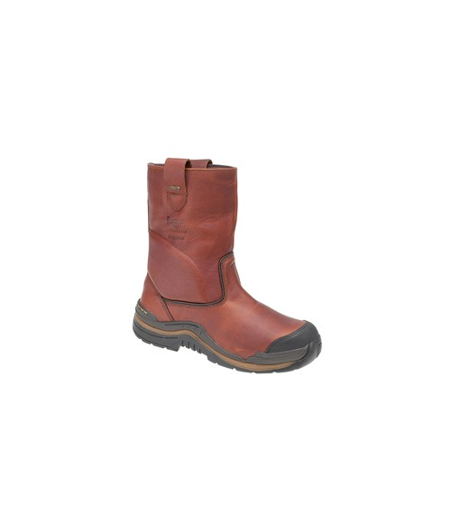Dr Martens-Airwair 6906 Tan Rigger Boots - Steel Toe-Cap & Midsole