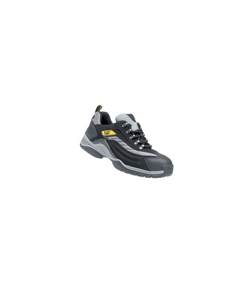 Caterpillar 7025 Moor Black and Silver PU/Nubuck Lightweight Safety Trainers