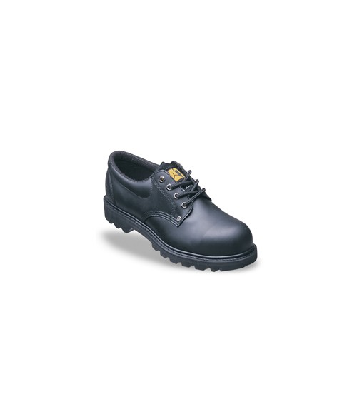 Caterpillar 7035 Rig Black Full Grain Leather Safety Shoes with Rubber Sole