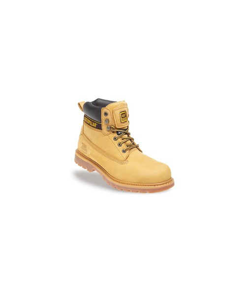 Caterpillar 7042 Holton Honey Nubuck Leather Goodyear Welted Safety Boots