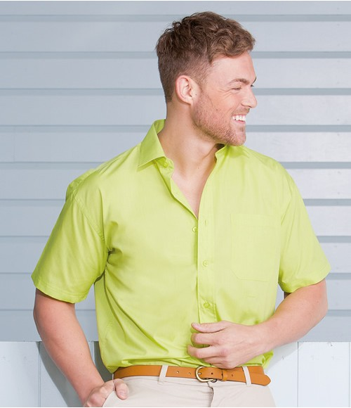 Russell Collection Short Sleeve Easy Care Poplin Shirt