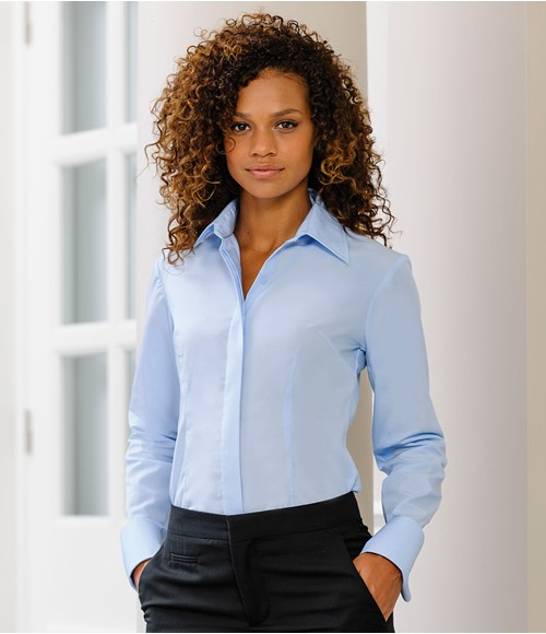 Russell Collection Ladies Long Sleeve Tencel Corporate Shirt