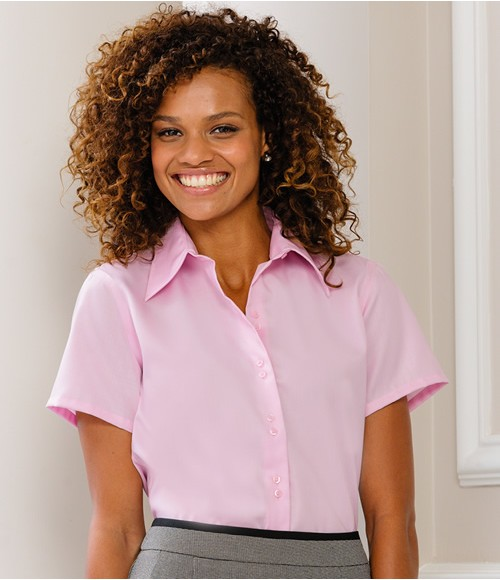 Russell Collection Ladies Short Sleeve Ultimate Non-Iron Shirt