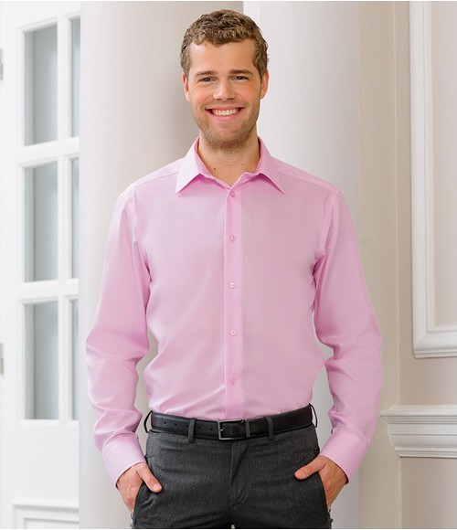 Russell Collection Long Sleeve Tailored Ultimate Non-Iron Shirt