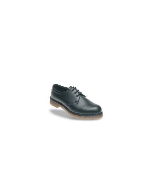 Toesavers AC02 Black Leather Safety Shoes - Air Cushioned PVC Sole
