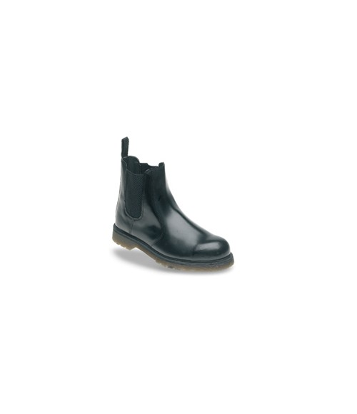 Toesavers AC03 Black Leather Safety Dealer Boots - Air Cushioned PVC Sole