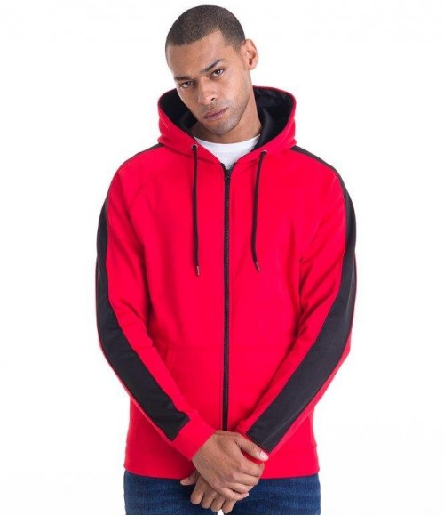 Jh066 AWDis Contrast Sports Polyester Zoodie