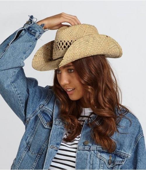 BB735 Beechfield Straw Cowboy Hat