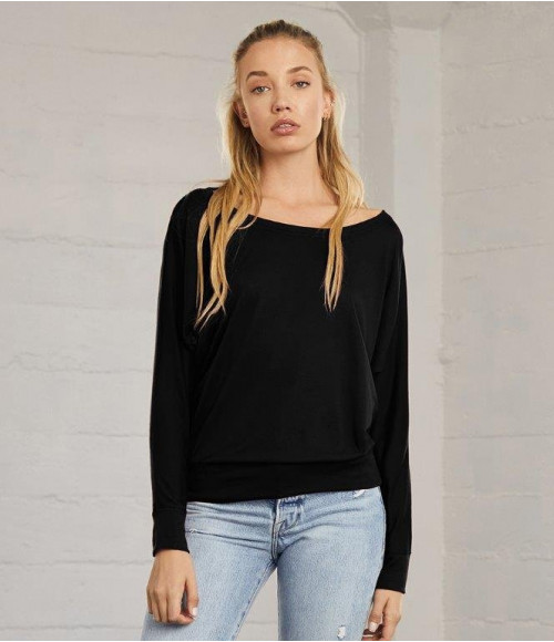 BL8850 Bella Ladies Flowy Long Sleeve T-Shirt