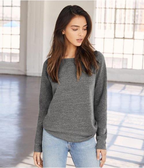 BL7501 Bella Ladies Tri-Blend Sponge Fleece Wide Neck Sweatshirt