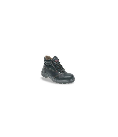 Toesavers C001 Black Leather Safety Boots - Dual Density Sole