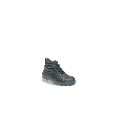 Toesavers C001SS Black Leather Safety Boots - Dual Density Sole, Midsole & Scuff Cap