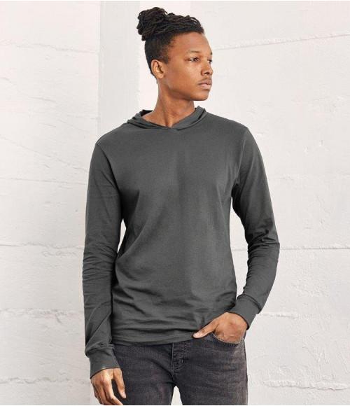 CV3512 Canvas Unisex Long Sleeve Jersey Hooded T-Shirt